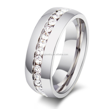 R005S Fashion Charming Stainless Steel Diamond Rings for Women Wedding Rings