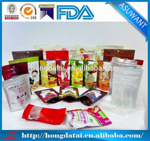 factory factory custom resealable pouch for food/ food packaging bag