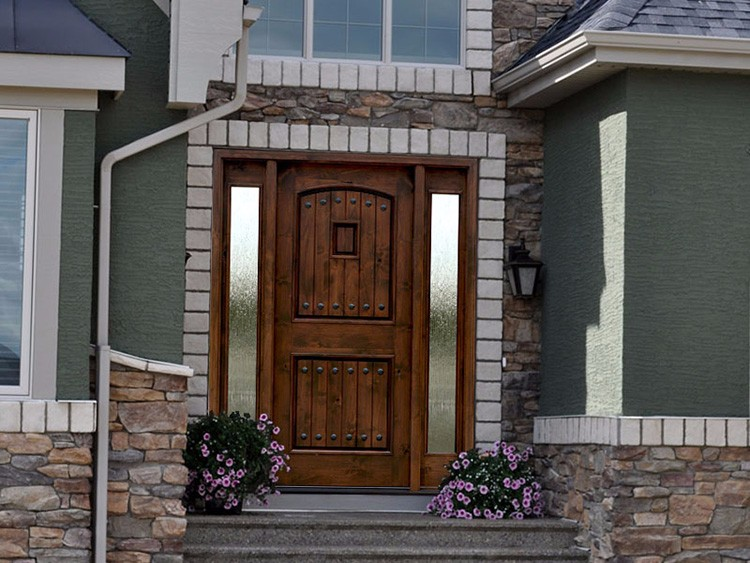 Diseo de puertas de madera interesting diseo simple for Puertas de entrada de madera y vidrio