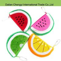 promotional smart lovely fruit plush change purse
