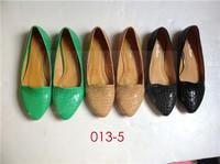 Famous brand elegant lady flat ballerina shoes