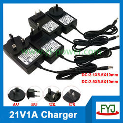 recharger battery charger 21v 1a recharger for rechargeable battery 18.5v YJP-210100