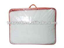 High quality PVC bedding packaging bag with 2pcs rope handles, bedding bag manufacturer
