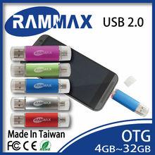 new 2015 gift USB 2.0 flash drive on-the-go smartphone memory stick 4GB 8GB 16GB 32GB OTG otg