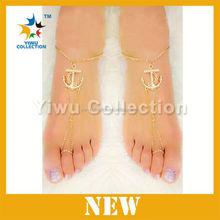 SILVER cz ANKLET bracelet PAYAL pair foot chain