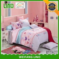 Colorful Home fabric bedsheet design colors/reversible comforter set