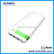 3 port USB Portable 20000mAh cellphone power bank