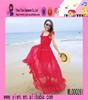Wholesale Summer Hot Strap Dress Long Style Sex Girl Charming Chiffon Red Beach Dress