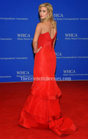 Celebrity Inspired Ivanka Trump 2015 White House Correspondents Association Dinner Red Tight Formal Dress