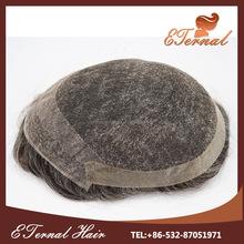 Brazilian Human Hair stock mens toupee gray hair hair piece toupee for black men