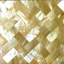 أصفر أم اللؤلؤ قذيفة فسيفساء حجم جاكوزي