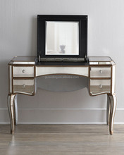 antique gold mirrored dressing table with drawers
