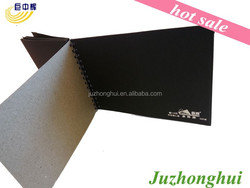 one side coated black cardboard/paper board with grey back
