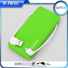 Buy Direct from China Factory Portable 5000mah Power Bank Buitl in Cable