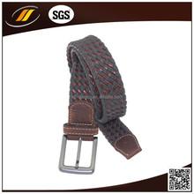 Factory New Fashion Western Fabric Men Slide Buckle Braid Belt