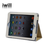 Super thin table standing smart cover leather case for ipad2 / ipad3 / ipad4, for ipad leather case