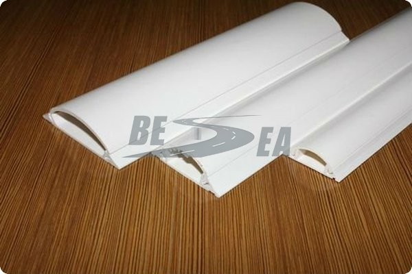 White Color PVC Plastic Wall Cord Cover/ Floor Cable Duct(DH-CFD)