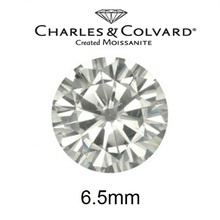 Wholesale Charles Colvard White Color Moissanite Loose Stones Round Brilliant Cut 6.5mm Near Colorless