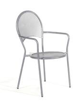 Outdoor cast iron stackable chair, garden wrought iron arm chair
