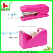 foska stationery hot selling cute tape dispenser and stapler