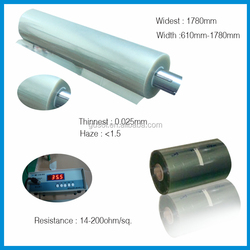 trade assurance 1220mm width conductive ito film for DSC/OPV