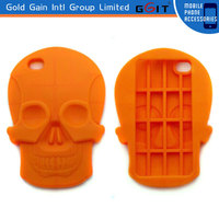 2014 New arrival Holloween skull Design 3D Silicon case for Samsung S3 mini I9190 silicon back cover case