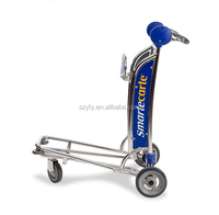 2015 Shopping cart luggage cart with aluminium frame.
