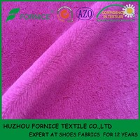 100% Polyester low pile plush fabric