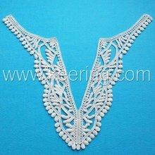 2012 fashion wide V-neckline lace motif for appearl WLS-221