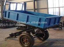 tractors 4 wheels farm trailer with low price side tipping trailer