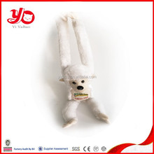 Best selling stuffed toys white monkey cute soft, plush monkey long arms and legs