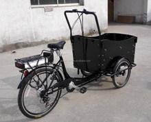 2015 hot sale CE approved three wheel 26 inch 3 wheel electric cargobike/bakfiets/cargo tricycle bike