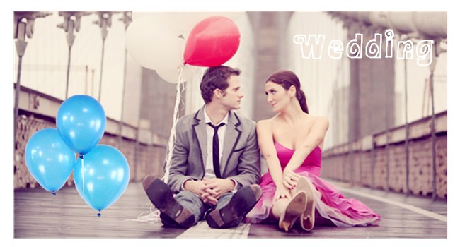 blue latex balloon for party decoration