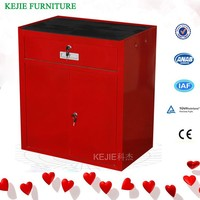 Car Service Used Movable Custom Tool Cabinet on Wheels