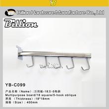YB-C028 fashion factory slatwall hooks clothes chrome hooks chrome plating slat wall