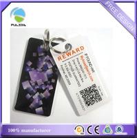custom rectangle resin epoxy QR bar code scan me plastic key chain