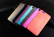 Cell phone accessory PC+Brushed aluminum for iphone 6 aluminum case china price