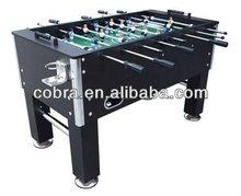 5ft hand kicker mit verchromten becherhalter, Fußball-Spiel tisch, Hause kicker mit soliden Abriss, schwarz oder braun