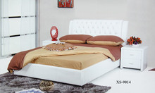 White Morden leather pu bed