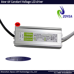 Single output 90-265v ac 80w led power supply,constant voltage led driver