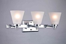 UL listed wedding decoration Chrome glass Vanity light/wall light