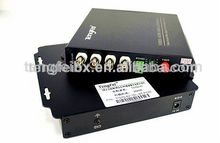 4 channel digital video fiber optical converterCCTV/CATV 14channel video over fiber optic converter, 4 channel fiber optical
