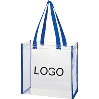Fashion Clear PVC Transparent Tote Shopping Bag