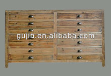 Vintage reciclada para muebles de madera maciza en el pecho de cajones