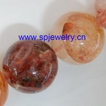 red iron quartz beads, round 4-16mm,16-inch per strand