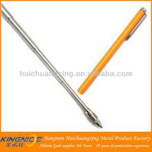 Extended stainless steel telescopic small ballpoint pen
