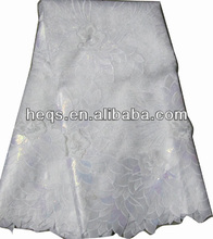 High quality african organza lace for wedding in pure white