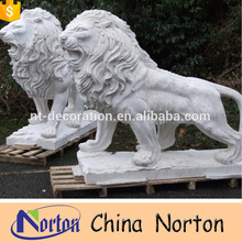 Stone Carvings and marble Sculptures Real-like Lion Statue NTBM-L084R