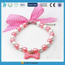 L.F new pearl collars for dogs decorative dog collars to sell