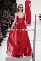 2014 beautiful red top brand floor length sweetheart neck custom make short evening dress TM1419 custom made dressing gowns